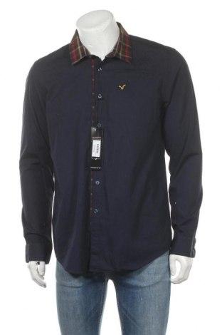 Ανδρικό πουκάμισο Voi Jeans, Μέγεθος L, Χρώμα Μπλέ, Βαμβάκι, Τιμή 9,12€