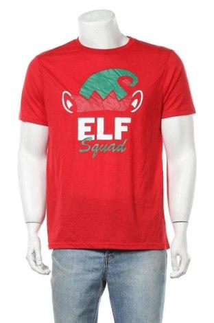 Мъжка тениска, Размер XL, Цвят Червен, Полиестер, памук, Цена 18,90лв.
