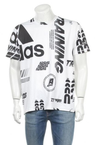 Pánské tričko  Adidas, Velikost L, Barva Bílá, 91% polyester, 9% elastan, Cena  279,00Kč