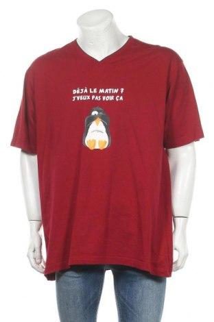 Мъжка тениска Armand Thiery, Размер XXL, Цвят Червен, Памук, Цена 16,50лв.