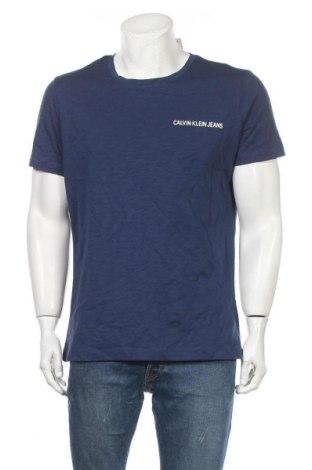 Pánské tričko  Calvin Klein Jeans, Velikost XL, Barva Modrá, Bavlna, Cena  568,00Kč