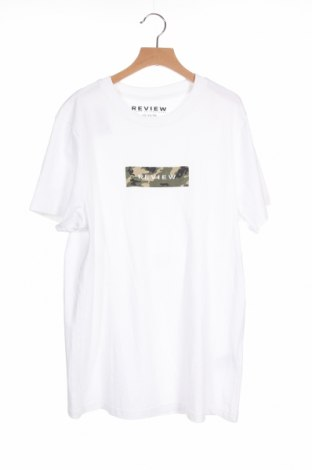 Ανδρικό t-shirt Review, Μέγεθος XS, Χρώμα Λευκό, Βαμβάκι, Τιμή 12,37€
