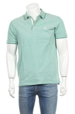 Мъжка тениска Selected Homme, Размер L, Цвят Зелен, Памук, Цена 28,42лв.