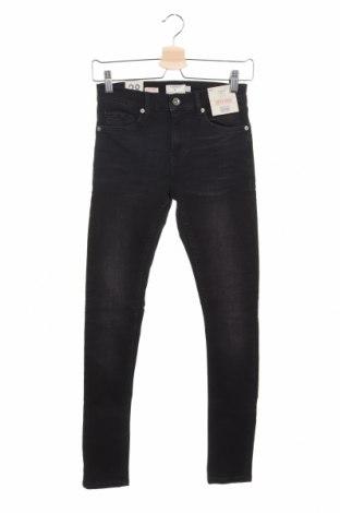 Мъжки дънки Topman, Размер XS, Цвят Черен, 97% памук, 3% еластан, Цена 28,98лв.