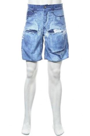 Мъжки къс панталон Iguana, Размер S, Цвят Син, Полиестер, Цена 14,28лв.