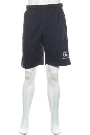 Мъжки къс панталон Route 66, Размер L, Цвят Син, 60% памук, 40% полиестер, Цена 9,45лв.