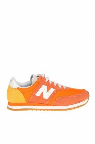 Παιδικά παπούτσια New Balance, Μέγεθος 36, Χρώμα Πορτοκαλί, Φυσικό σουέτ, κλωστοϋφαντουργικά προϊόντα, Τιμή 39,20€