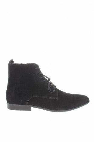 Мъжки обувки Pier One, Размер 45, Цвят Черен, Естествен велур, Цена 149,00лв.