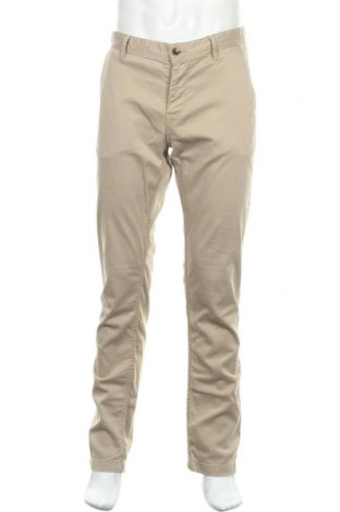 Мъжки панталон Boss Orange, Размер L, Цвят Бежов, 98% памук, 2% еластан, Цена 61,92лв.