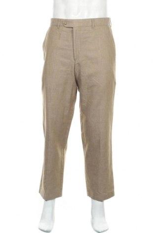 Мъжки панталон Cool Water, Размер M, Цвят Бежов, 52% лен, 48% памук, Цена 15,75лв.