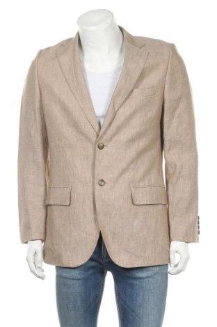 Мъжко сако H&M, Размер L, Цвят Бежов, Лен, Цена 34,50лв.