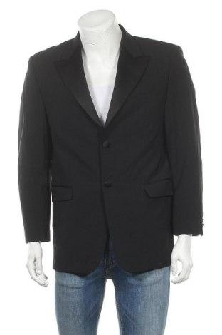 Мъжко сако Pierre Cardin, Размер L, Цвят Черен, 53% полиестер, 43% вълна, 4% еластан, Цена 25,28лв.