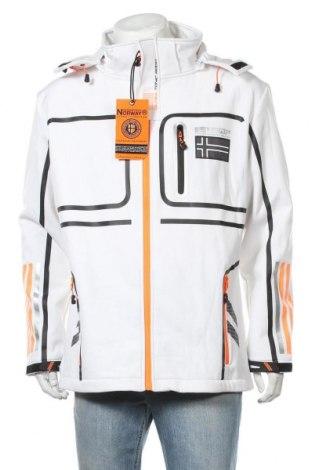 Ανδρικό αθλητικό μπουφάν Geographical Norway, Μέγεθος XL, Χρώμα Λευκό, 96% πολυεστέρας, 4% ελαστάνη, Τιμή 96,26€