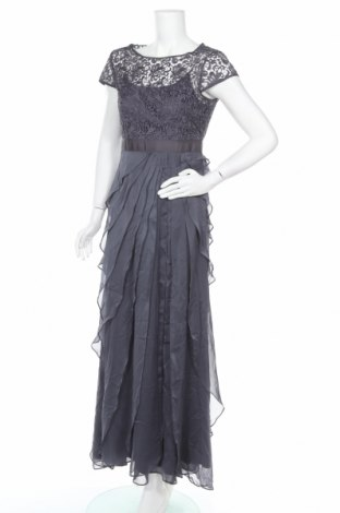 Рокля Adrianna Papell, Размер S, Цвят Сив, 100% полиестер, Цена 107,73лв.