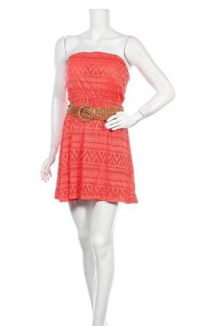 Рокля Almost Famous, Размер M, Цвят Оранжев, 95% полиестер, 5% еластан, Цена 25,52лв.