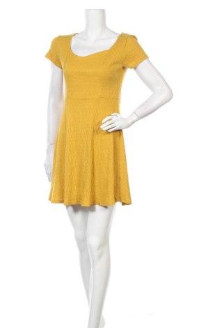 Рокля Alya, Размер S, Цвят Жълт, 52% памук, 48% полиестер, Цена 23,52лв.
