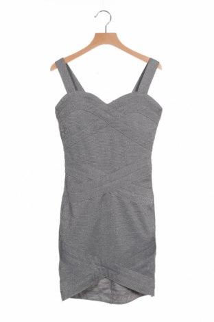 Φόρεμα H&M Divided, Μέγεθος XXS, Χρώμα Γκρί, 50% πολυεστέρας, 37% βισκόζη, 9% μεταλλικά νήματα, 4% ελαστάνη, Τιμή 9,21€