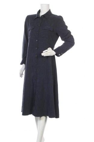 Šaty  Mango, Velikost L, Barva Modrá, 79% tencel , 21% polyester, Cena  692,00Kč