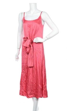 Рокля Massimo Dutti, Размер M, Цвят Розов, Вискоза, Цена 63,84лв.