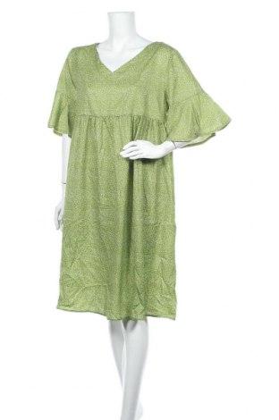 Рокля Miss Look, Размер XL, Цвят Зелен, Памук, полиестер, Цена 29,40лв.