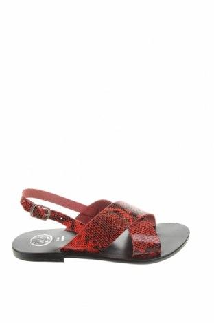 Сандали W.S Shoes, Размер 38, Цвят Червен, Естествена кожа, Цена 74,76лв.