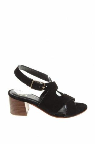Σανδάλια W.S Shoes, Μέγεθος 38, Χρώμα Μαύρο, Φυσικό σουέτ, Τιμή 34,41€