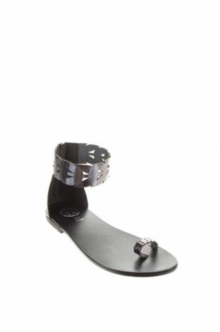 Сандали W.S Shoes, Размер 38, Цвят Сив, Естествена кожа, Цена 73,87лв.