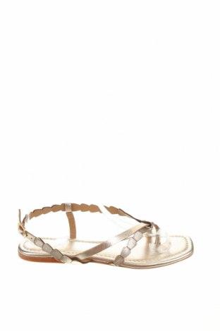 Сандали W.S Shoes, Размер 38, Цвят Златист, Естествена кожа, Цена 50,18лв.