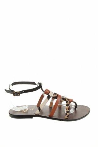 Сандали W.S Shoes, Размер 38, Цвят Многоцветен, Естествена кожа, естествен косъм, Цена 55,18лв.