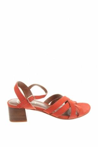 Сандали W.S Shoes, Размер 38, Цвят Червен, Естествен велур, Цена 75,81лв.