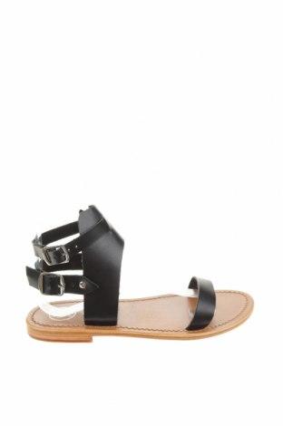 Сандали W.S Shoes, Размер 39, Цвят Черен, Естествена кожа, Цена 74,34лв.