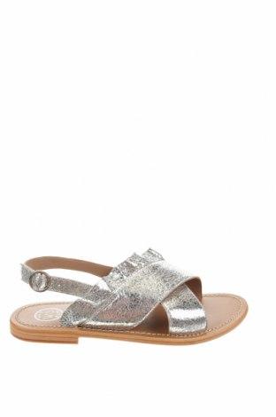 Sandale W.S Shoes, Mărime 38, Culoare Gri, Piele naturală, Preț 219,57 Lei