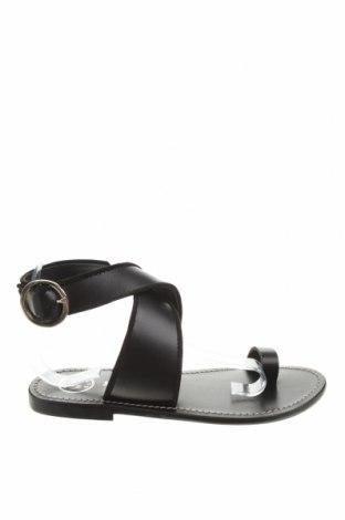 Σανδάλια W.S Shoes, Μέγεθος 38, Χρώμα Μαύρο, Γνήσιο δέρμα, Τιμή 34,41€