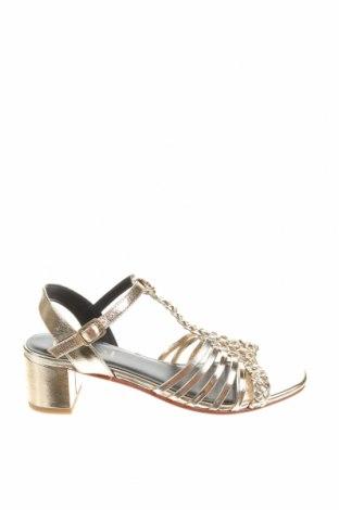 Сандали W.S Shoes, Размер 38, Цвят Златист, Естествена кожа, Цена 70,14лв.