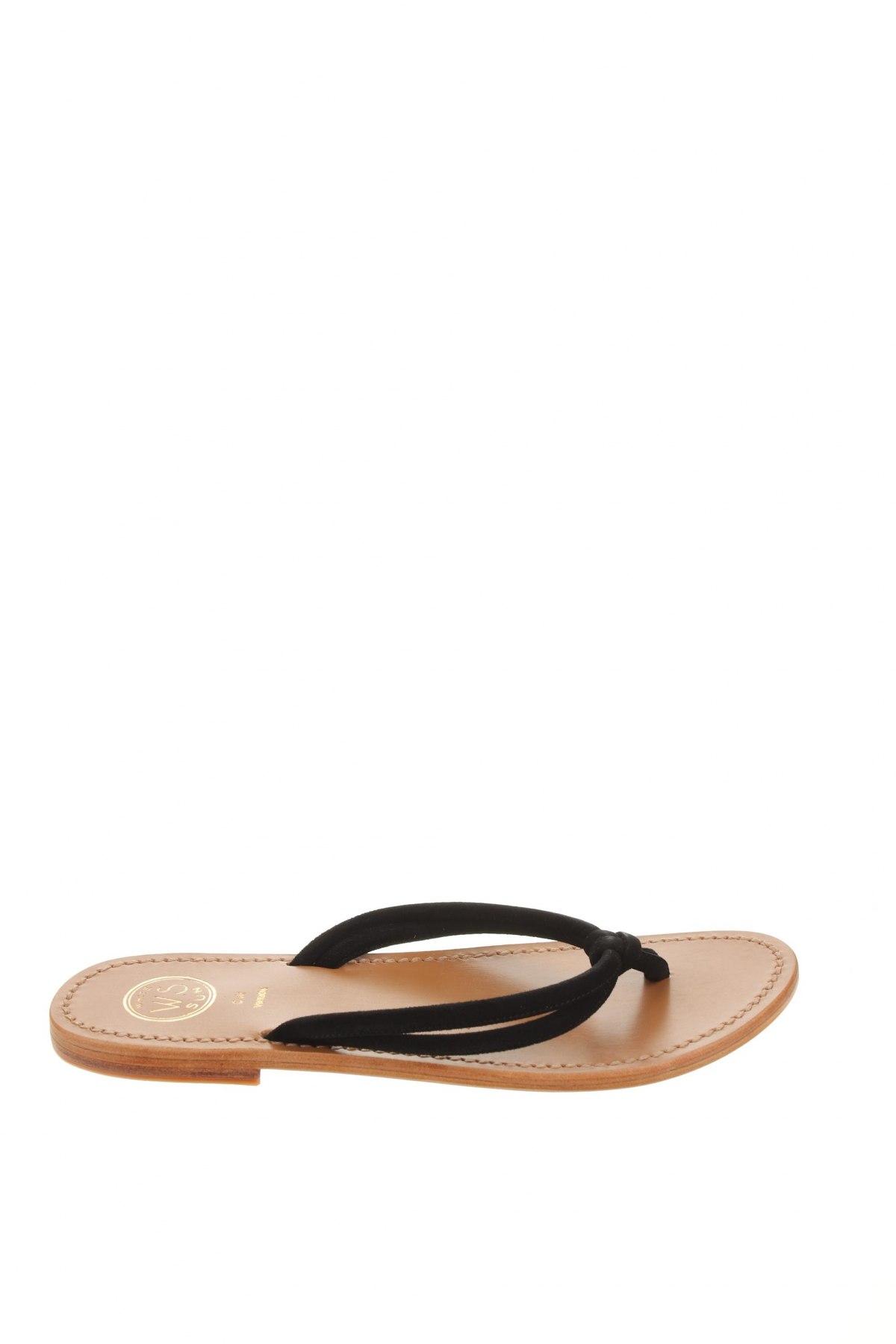 Чехли W.S Shoes, Размер 38, Цвят Черен, Естествен велур, Цена 67,15лв.