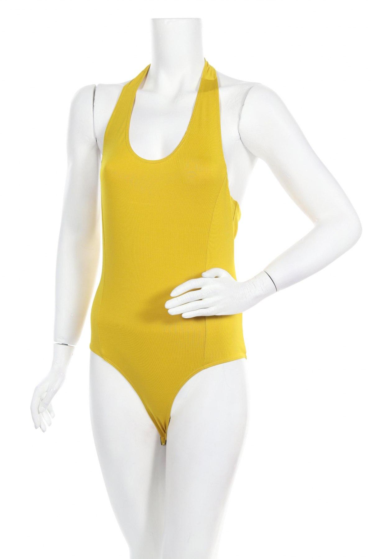 Γυναικεία μπλούζα-Κορμάκι Even&Odd, Μέγεθος M, Χρώμα Κίτρινο, 95% πολυεστέρας, 5% ελαστάνη, Τιμή 15,08€