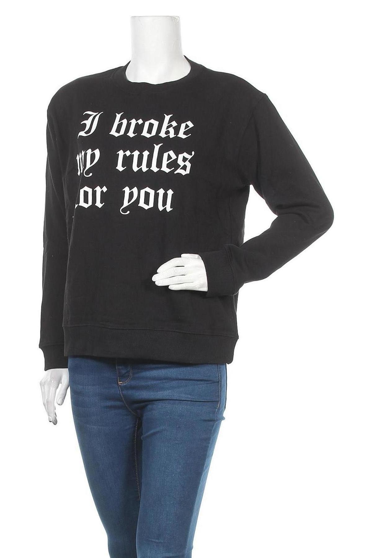 Дамска блуза Sisters Point, Размер M, Цвят Черен, Памук, Цена 14,57лв.