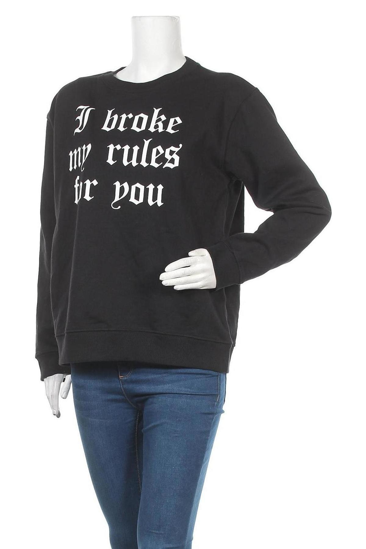 Дамска блуза Sisters Point, Размер L, Цвят Черен, Памук, Цена 14,57лв.