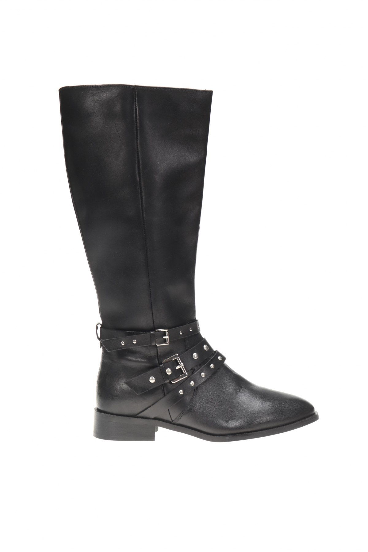 Дамски ботуши Apolina, Размер 39, Цвят Черен, Естествена кожа, Цена 143,20лв.