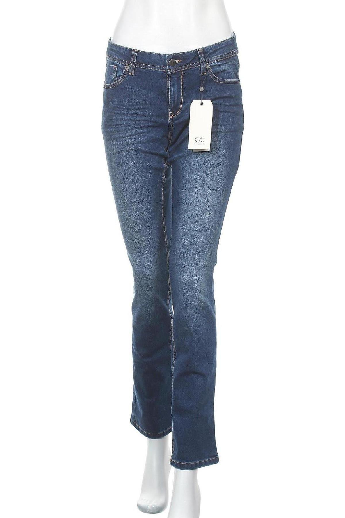 Дамски дънки Q/S by S.Oliver, Размер M, Цвят Син, 78% памук, 21% полиестер, 1% еластан, Цена 30,91лв.