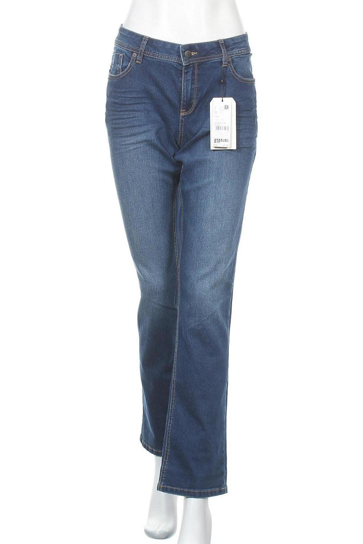 Дамски дънки Q/S by S.Oliver, Размер L, Цвят Син, 78% памук, 21% полиестер, 1% еластан, Цена 30,91лв.