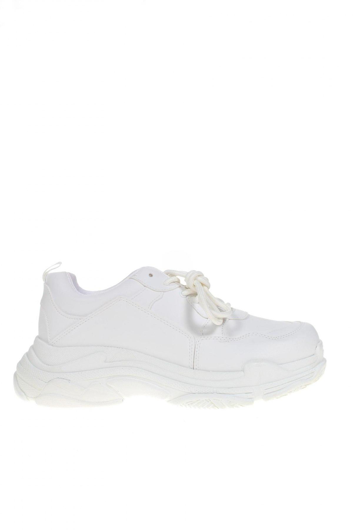 Дамски обувки NLY, Размер 41, Цвят Бял, Еко кожа, Цена 36,54лв.