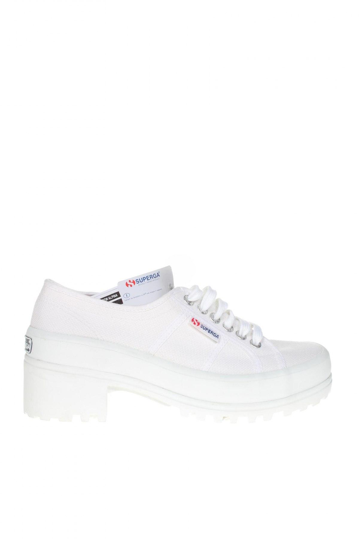 Дамски обувки Superga, Размер 39, Цвят Бял, Текстил, Цена 89,25лв.