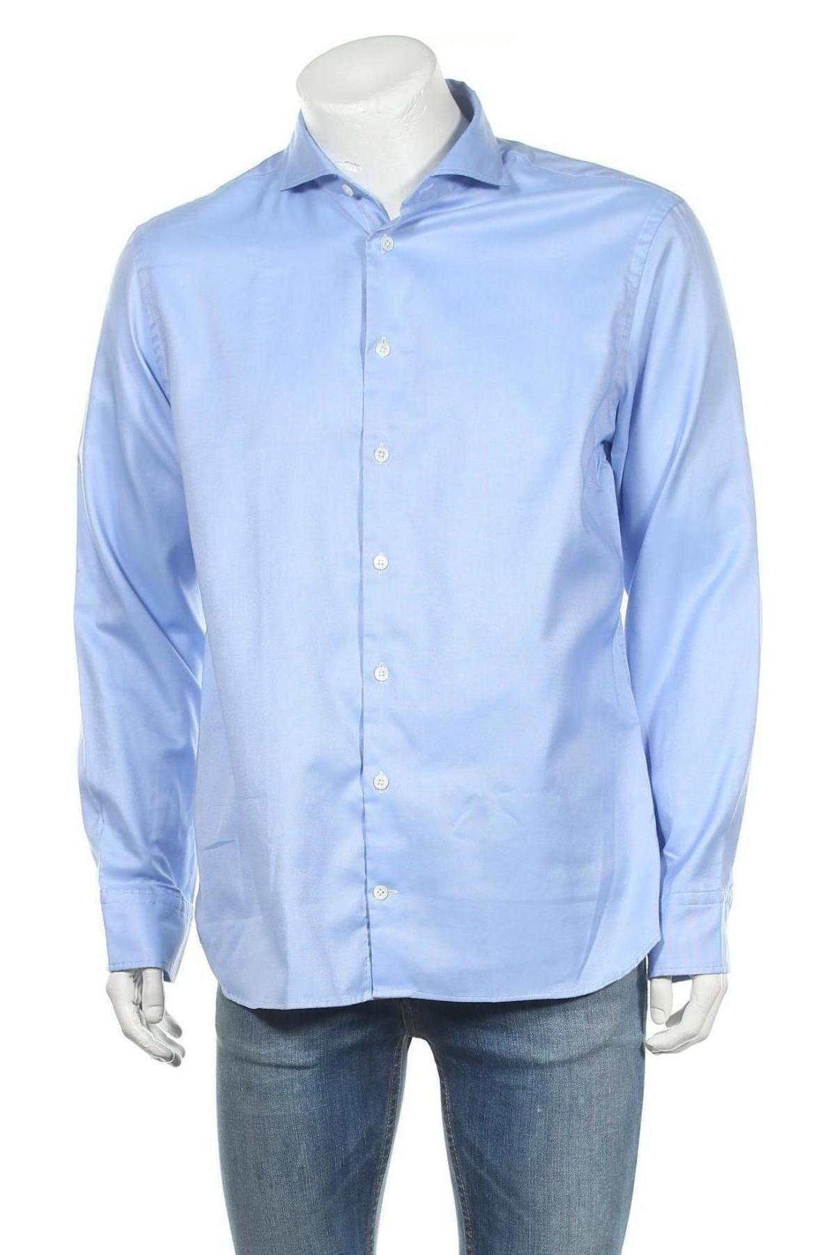 Мъжка риза House Of Paul Rosen, Размер XL, Цвят Син, Памук, Цена 69,00лв.