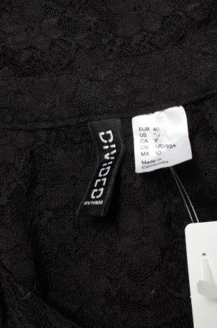 Γυναικείο πουκάμισο H&M Divided, Μέγεθος M, Χρώμα Μαύρο, 90% πολυαμίδη, 10% ελαστάνη, Τιμή 11,34€