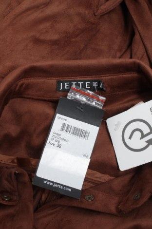 Γυναικείο πουκάμισο Jette, Μέγεθος S, Χρώμα Καφέ, Πολυεστέρας, Τιμή 16,89€