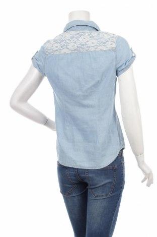 Γυναικείο πουκάμισο No Boundaries, Μέγεθος M, Χρώμα Μπλέ, 100% βαμβάκι, Τιμή 11,86€