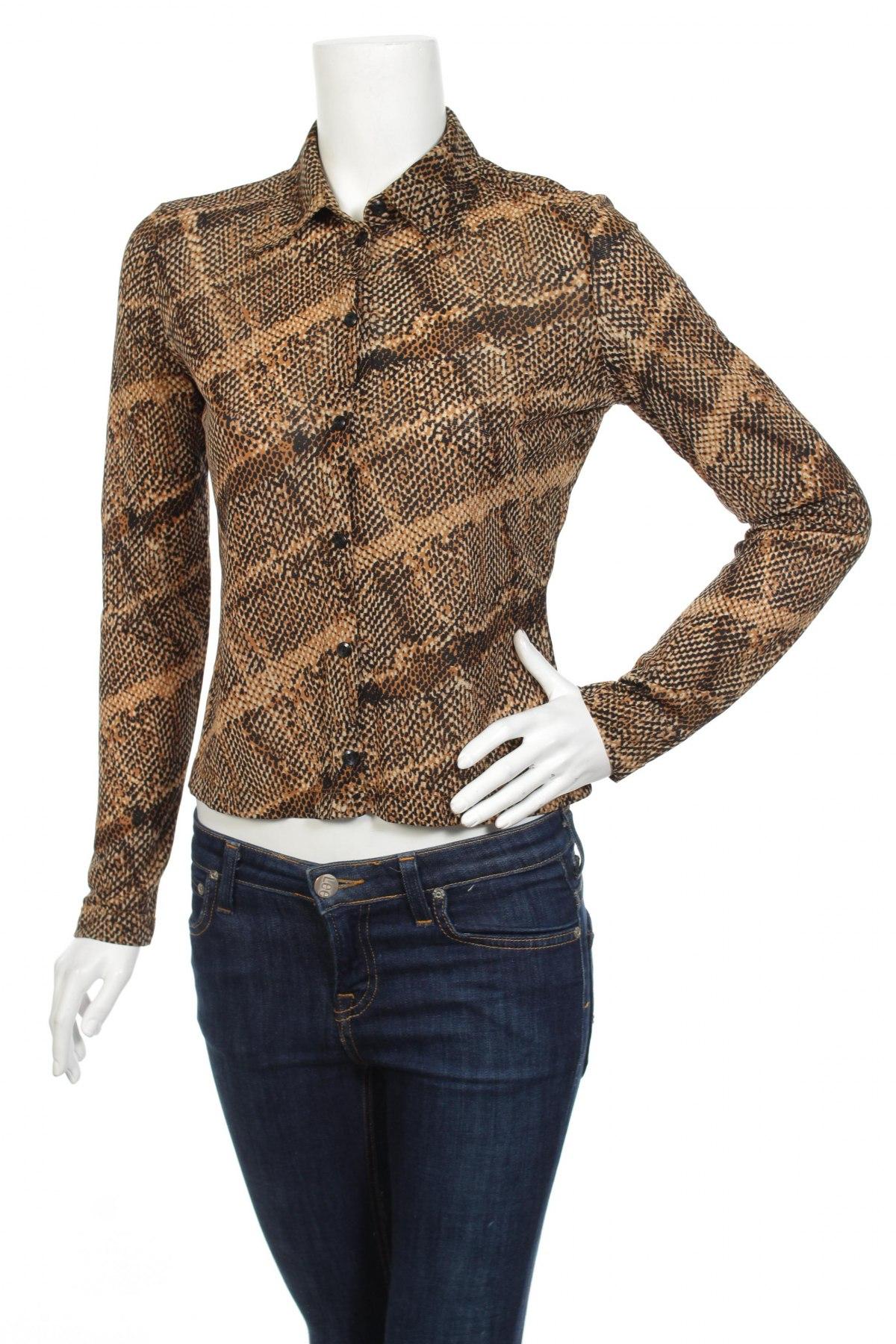 Γυναικείο πουκάμισο Mexx, Μέγεθος S, Χρώμα Καφέ, Τιμή 15,46€