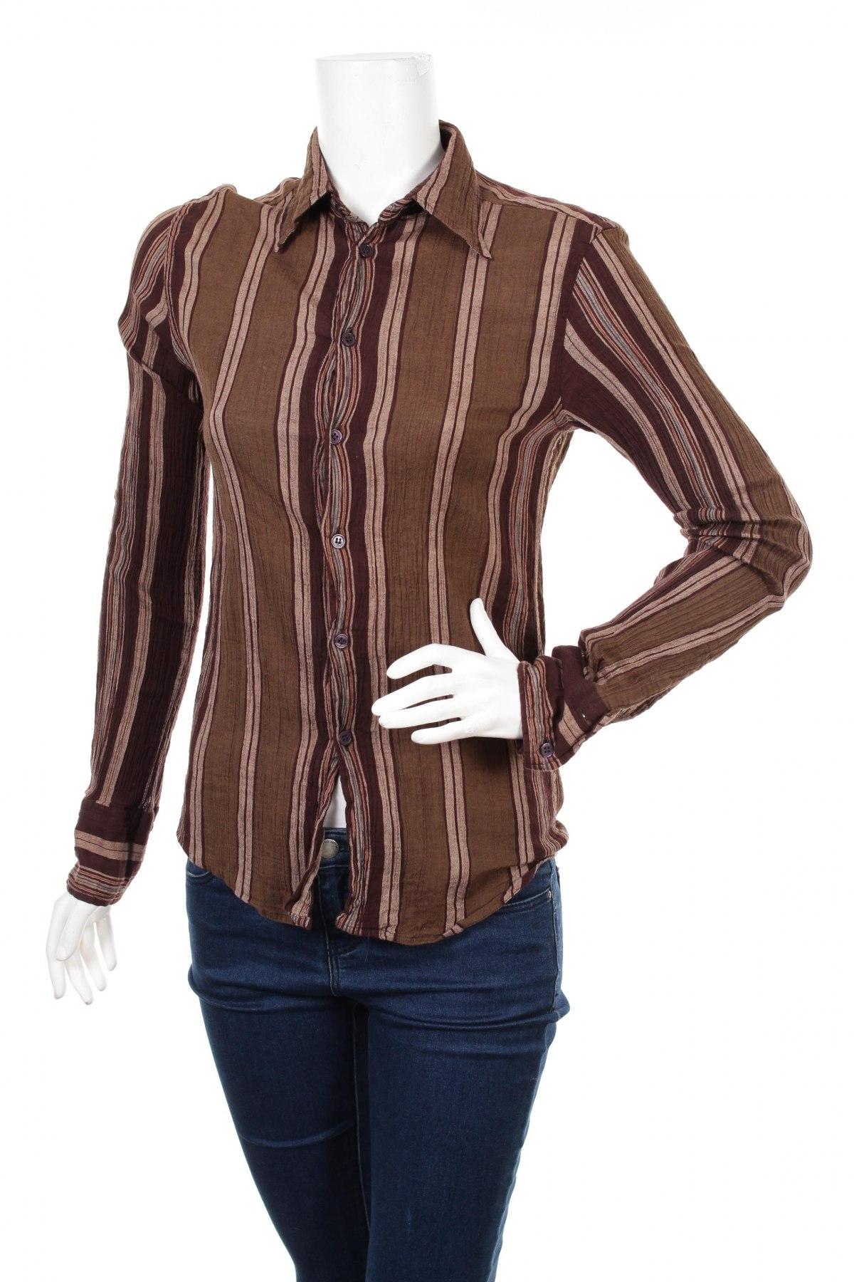 Γυναικείο πουκάμισο Zara, Μέγεθος M, Χρώμα Καφέ, Βαμβάκι, Τιμή 15,46€