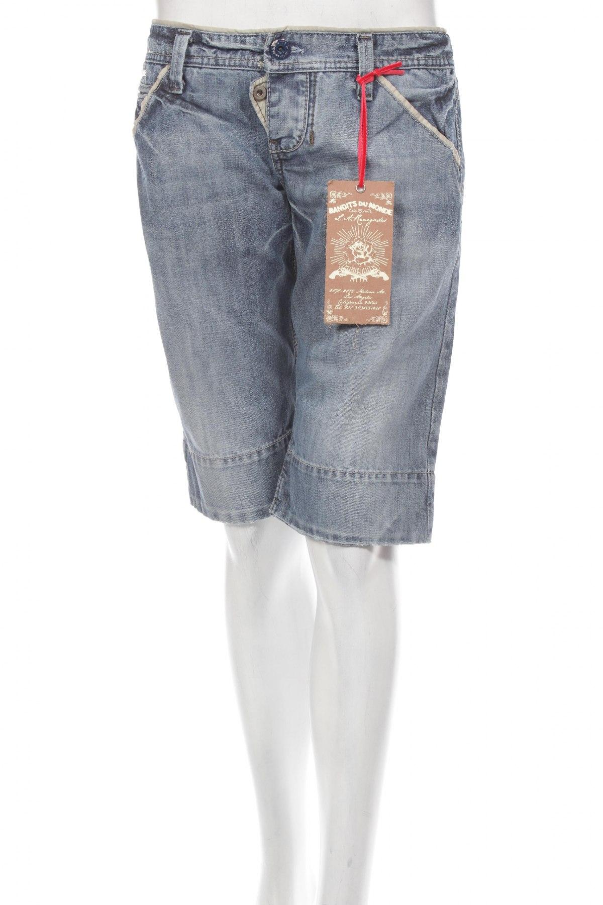 Γυναικείο κοντό παντελόνι Bandits Du Monde, Μέγεθος M, Χρώμα Μπλέ, Τιμή 4,02€